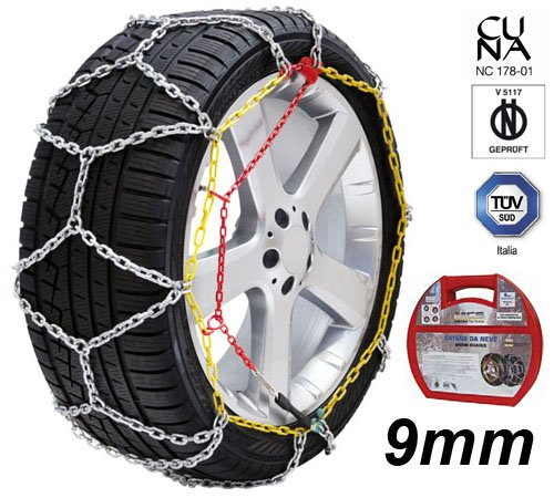 Catene neve rombo 9mm Omologate ONORM V5117 MINI ONE GOMME 195//55R16