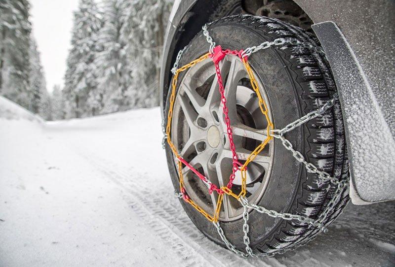 Catene da neve a rombo spessore 9mm per auto pneumatico 245//40R18  2454018